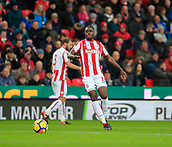 2nd December 2017, bet365 Stadium, Stoke-on-Trent, England; EPL Premier League football, Stoke City versus Swansea City;  Bruno Martins Indi of Stoke City moves the ball forward
