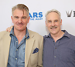 Douglas Sills and John Dossett backstage at United Airlines Presents #StarsInTheAlley free outdoor concert in Shubert Alley on 6/2/2017 in New York City.