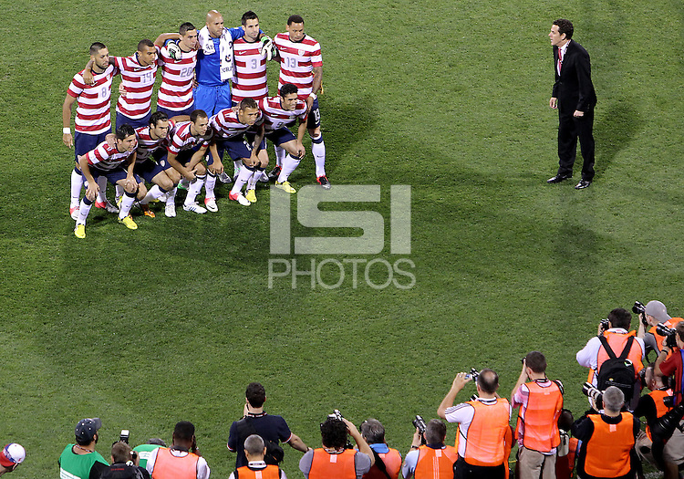 COLUMBUS, OHIO - SEPTEMBER 11, 2012:  Starting eleven of the USA MNT against Jamaica during a CONCACAF 2014 World Cup qualifying  match at Crew Stadium, in Columbus, Ohio on September 11. USA won 1-0.