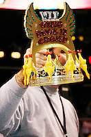 "The crown they are all battling for at the 13th annual Wing Bowl, held in Philadelphia on February 4, 2005 at the Wachovia Center.<br /> <br /> The Wing Bowl is a competitive eating event in which eaters try and down the most hot wings in 30 total minutes in front of a crowd of 10,000 plus people.  The real show however is all around the eaters, from the various scantily clad women, known as ""Wingettes"", that make up competitors' entourages to the behavior of the fans themselves."