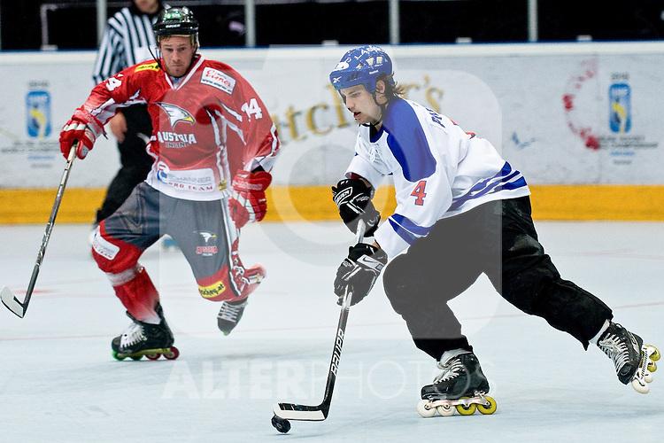 29.06.2010, Löfbergs Lila Arena, Karlstad, SWE, IIHF In Line Hockey World Championships 2010, Finland (FIN) vs Austria (AUT), im Bild Petri Partanen of Finland.  Foto: nph /   Matic Klansek Velej +++ Slovenia OUT +++