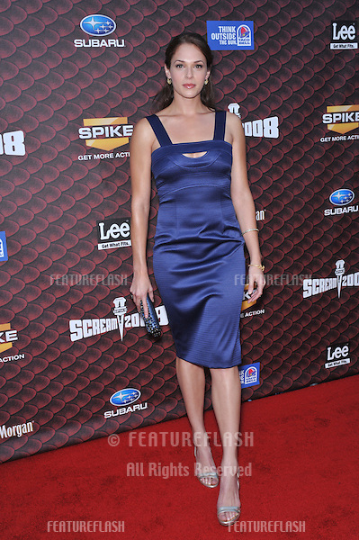 Amanda Righetti at Spike TV's Scream 2008 Awards at the Greek Theatre, Hollywood..October 18, 2008  Los Angeles, CA.Picture: Paul Smith / Featureflash