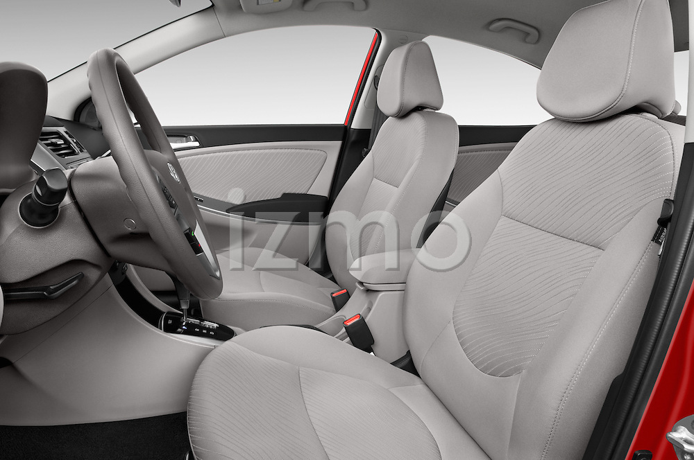 Front seat view of a 2015 Hyundai Accent GLS 4-Door 6-Speed Automatic 2 Door Sedan Front Seat car photos