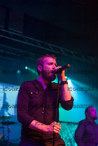 PARADISE LOST - vocalist Nick Holmes - performing live on the 25th Anniversary Tour at the Wulfrun Hall in Wolverhampton UK - 30 Oct 2013.  Photo credit: Tony Woolliscroft/IconicPix