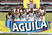 BOGOTÁ -COLOMBIA, 11-03-2015. Jugadores del Deportes Tolima posan para un foto previo al encuentro con Cúcuta Deportivo por la fecha 9 de la Liga Aguila I 2015 jugado en el estadio General Santander de la ciudad de Cúcuta./ Players of Deportes Tolima pose to a photo prior the match against Cucuta Deportivo for the 9th of the Aguila League I 2015 played at General Santander stadium in Cucuta city. Photo: VizzorImage / Manuel Hernandez /Str