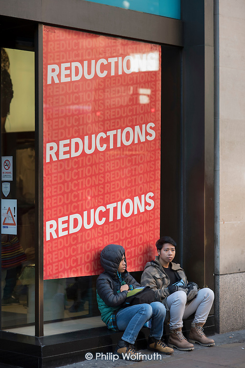 Black Friday shoppers outside a Primark store, Oxford Street, London.