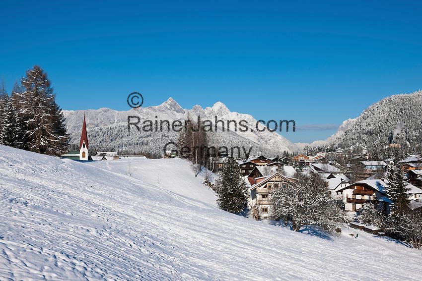 Austria, Tyrol, international Wintersport Resort Seefeld and Wetterstein mountains