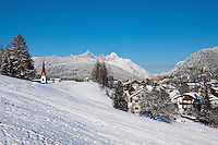 Austria, Tyrol, international Wintersport Resort Seefeld and Wetterstein mountains