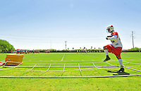 Jun 9, 2008; Tempe, AZ, USA; Arizona Cardinals fullback (45) Terrelle Smith runs through drills during mini camp at the Cardinals practice facility. Mandatory Credit: Mark J. Rebilas-