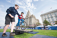 Picture by Allan McKenzie/SWpix.com - 24/09/2017 - Cycling - HSBC UK City Ride Liverpool - Albert Dock, Liverpool, England - HSBC UK, Lets ride, city ride, Liver building.