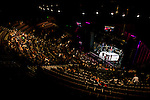 A photograph taken using a remote camera system located on the crew level of Club Nokia in Los Angeles, Calif.,  during a U of MMA fight held on Sunday March 3, 2013.