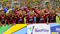IBAGUE-COLOMBIA, 22-02-2020: Jugadores de Deportes Tolima, posan para una foto antes de partido entre Deportes Tolima y Atletico Junior de la fecha 6 por la Liga BetPlay DIMAYOR I 2020, jugado en el estadio Manuel Murillo Toro de la ciudad de Ibague. / Players of Deportes Tolima, pose for a photo prior a match between Deportes Tolima and Atletico Junior of the 6th date for the Liga BetPlay DIMAYOR I 2020, played at Manuel Murillo Toro stadium in Ibague city. / Photo: VizzorImage / Juan Carlos Escobar / Cont.