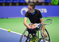 Rotterdam,Netherlands, December 15, 2015,  Topsport Centrum, Lotto NK Tennis, Wheelchair Tennis, Ruben Spaargaren (NED)<br /> Photo: Tennisimages/Henk Koster
