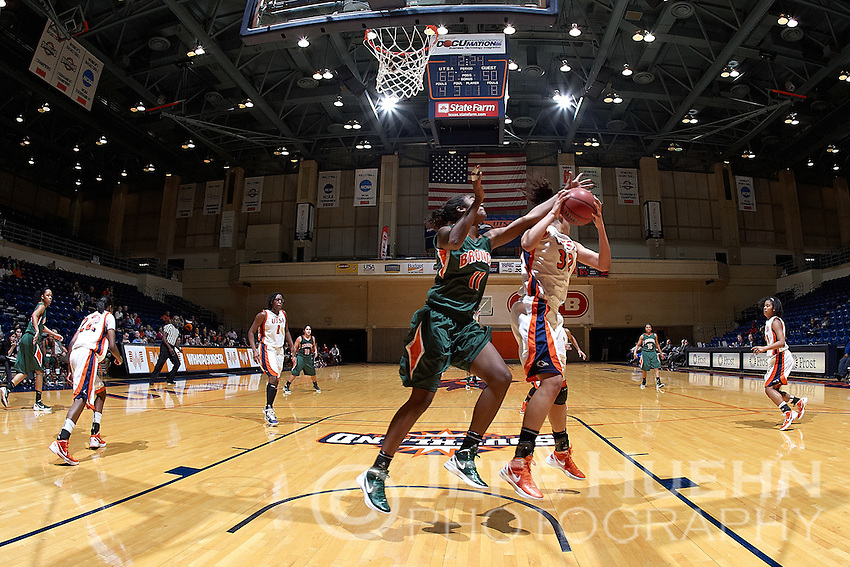 SAN ANTONIO, TX - DECEMBER 21, 2011: The University of Texas-Pan American Broncos vs. The University of Texas at San Antonio Roadrunners Women's Basketball at the UTSA Convocation Center. (Photo by Jeff Huehn)