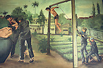 PAINTING OF TORTURE OF GENOCIDE VICTIM