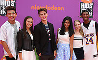 LOS ANGELES, CA July 13- Kyson Facer, Alex Hook, Carson Rowland, Mohana Krishnan, Nicole Alyse Nelson, Armani Barrett, At Nickelodeon Kids' Choice Sports Awards 2017 at The Pauley Pavilion, California on July 13, 2017. Credit: Faye Sadou/MediaPunch