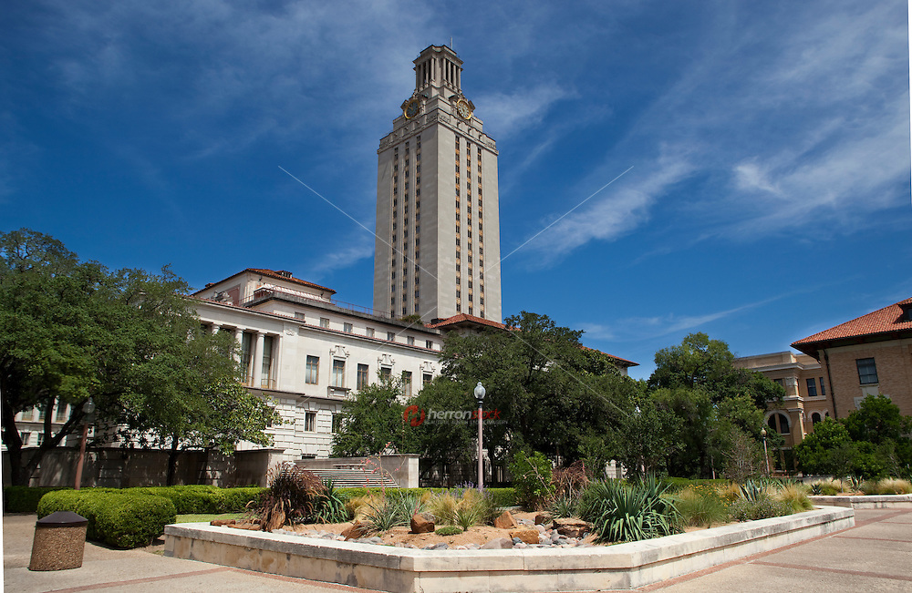 Image of the University of Texas Clock Tower on a beautiful day in Austin, Texas.