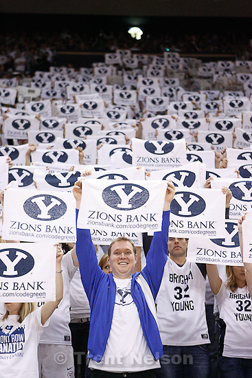 Trent Nelson  |  The Salt Lake Tribune.BYU fans pre-game as BYU hosts Wyoming, college basketball in Provo, Utah, Saturday, March 5, 2011.