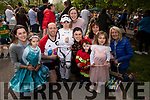 Enjoying the Family Fancy Dress Charity Fun Run in aid of Down Syndrome Ireland in the Tralee Town park on Saturday. front l to r: Aoibhinn Masterson, Jack Boyle and Darragh Hayes.<br /> Back l to r:  Zoe, Eva, and Jason Boyle, Naomi Masterson, Ashley Guinan, Ann and Marie Boyle.