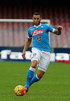 Napoli's Faouzi Ghoulam  during the  italian serie a soccer match,between SSC Napoli and Empoli      at  the San  Paolo   stadium in Naples  Italy , January 31, 2016