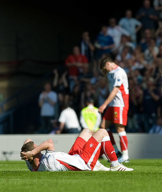 Falkirk dejection at the final whistle