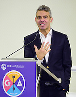 Andy Cohen, Emmy Award-winning television host and developer of the &quot;Real Housewives&quot; franchise, addresses more than a hundred top Jewish leaders over lunch at an exclusive session during the General Assembly of the Jewish Federations of North America on Sunday, November 13, 2016. Speaking for nearly an hour at the Washington Hilton in Washington, D.C., he spoke at length about his Jewish roots and his new tell-all book &quot;Superficial: More Adventures from the Andy Cohen Diaries,&quot; due out this week. <br /> Credit: Ron Sachs / CNP /MediaPunch
