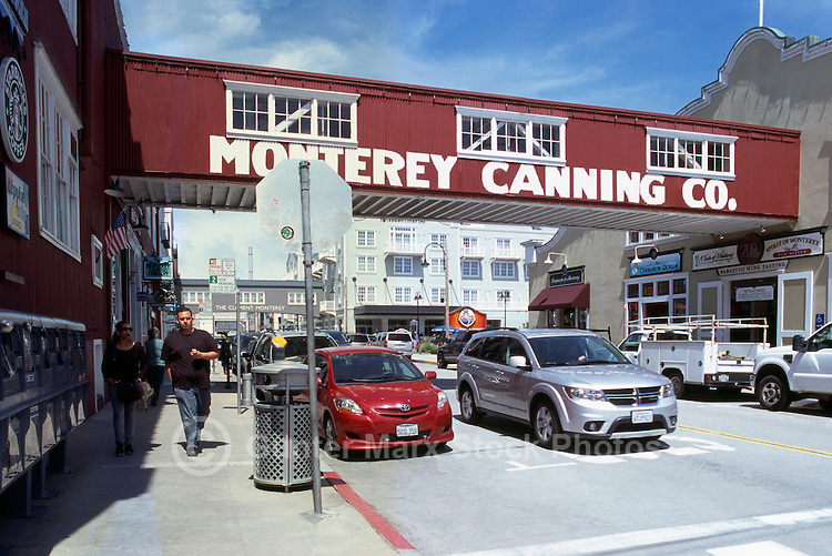 """Shops and Restaurants along """"Cannery Row"""", in the City of Monterey, California, USA"""