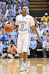 18 January 2014: North Carolina's Nate Britt. The University of North Carolina Tar Heels played the Boston College Eagles in an NCAA Division I Men's basketball game at the Dean E. Smith Center in Chapel Hill, North Carolina. UNC won the game 82-71.