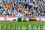 Sean O'Shea, Kerry is injured during the GAA Football All-Ireland Senior Championship Final match between Kerry and Dublin at Croke Park in Dublin on Sunday.