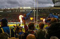 A general view of the build up to the match inside Old Trafford<br /> <br /> Photographer Alex Dodd/CameraSport<br /> <br /> Betfred Super League Grand Final - Wigan Warriors v Warrington Wolves - Saturday 13th October 2018 - Old Trafford - Manchester<br /> <br /> World Copyright © 2018 CameraSport. All rights reserved. 43 Linden Ave. Countesthorpe. Leicester. England. LE8 5PG - Tel: +44 (0) 116 277 4147 - admin@camerasport.com - www.camerasport.com