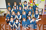 CLASS: The new pupils of Sr Joseph's junior infants class in Balloonagh NS who started school last Thursday morning were front l-r: Anna Bobiet, Caylin Murray, Yvonne Morrissey, Ava Prendergast and Kate Brophy. Second l-r: Ciara Madden, Tegan O'Sullivan, Roisin Mulrooney, Alexandra Sheridan, Laura O'Halloran and Lara Flynn. Third l-r: Alannah O'Connor, Brian McElligott, Joe Reidy, Daire Keehan, John Feely and Daragh O'Meara. Back l-r: Candice Faulkner, Kasey McCormack Timlin, Maeve Fullick Foley, Kirby Ryan, Grace O'Connor and Eimear Litchfield.   Copyright Kerry's Eye 2008