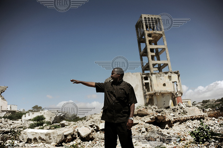 Mogadishu/Somalia 2012 -  The Mayor overlooking the area of Mogadishu which used to be the former Parliament ... Large areas of the city are still in ruins and will take many years to rebuild.