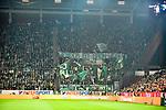 04.11.2018, Opel-Arena, Mainz, GER, 1 FBL, 1. FSV Mainz 05 vs SV Werder Bremen, <br /> <br /> DFL REGULATIONS PROHIBIT ANY USE OF PHOTOGRAPHS AS IMAGE SEQUENCES AND/OR QUASI-VIDEO.<br /> <br /> im Bild: Der Block der Werder Fans<br /> <br /> Foto © nordphoto / Fabisch