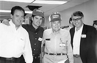 Undated photo of Sam Walton with singer Donny Osmond.