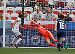 09.06.2019 England v Scotland Women: Lee Alexander beaten at penalty