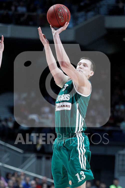Zalgiris Kaunas' Paulius Jankunas during Euroleague 2012/2013 match.January 11,2013. (ALTERPHOTOS/Acero)