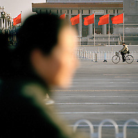 Locals in Tiananmen Square, Beijing, China