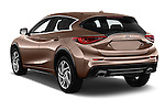 Car pictures of rear three quarter view of 2016 Infiniti Q30 Premium 5 Door Hatchback Angular Rear