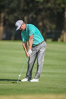Charley Hoffman (USA) hits his approach shot on 18 during round 3 of the World Golf Championships, Mexico, Club De Golf Chapultepec, Mexico City, Mexico. 3/3/2018.<br /> Picture: Golffile | Ken Murray<br /> <br /> <br /> All photo usage must carry mandatory copyright credit (&copy; Golffile | Ken Murray)