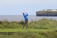 John Hickey (Cork) on the 4th tee during Matchplay Round 1 of the South of Ireland Amateur Open Championship at LaHinch Golf Club on Friday 22nd July 2016.<br /> Picture:  Golffile | Thos Caffrey<br /> <br /> All photos usage must carry mandatory copyright credit   (© Golffile | Thos Caffrey)