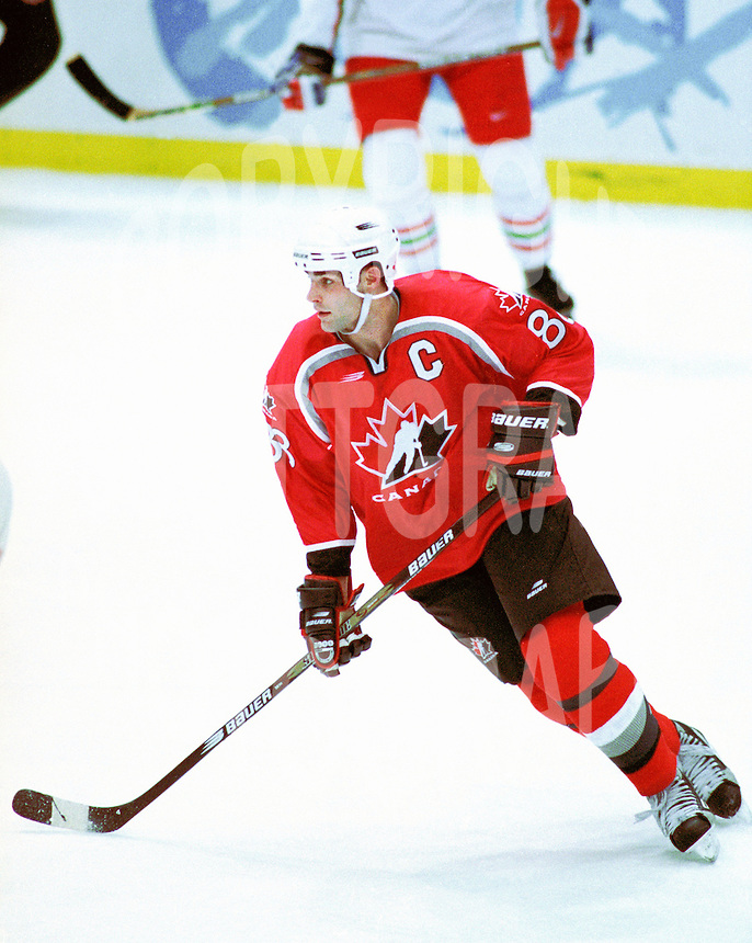 Eric Lindros Team Canada 1998 Olympics. Photo copyright F. Scott Grant