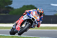 October 27, 2018: Jack Miller (UK) on the No.43 Ducati from Alma Pramac Racing during practice session three at the 2018 MotoGP of Australia at Phillip Island Grand Prix Circuit, Victoria, Australia. Photo Sydney Low
