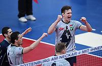 Volleyball 1. Bundesliga  Saison 2017/2018 TV Rottenburg - Hypo Tirol Alpen Volleys Haching     27.12.2017 JUBEL Alpen Volleys Haching; Stefan Chrtiansky (re)
