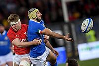 Angelo Esposito Italy,  Aaron Wainwright Wales.<br />  <br /> Roma 9-02-2019 Stadio Olimpico<br /> Rugby Six Nations tournament 2019  <br /> Italy - Wales <br /> Foto Antonietta Baldassarre / Insidefoto