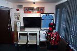 Gala Fairydean Rovers 4, Gretna 1, 25/01/2020. Netherdale, Scottish Lowland League. A view of the boardroom before Gala Fairydean Rovers host Gretna 2008 in a Scottish Lowland League match at Netherdale, Galashiels. The home club were established in 2013 through a merger of Gala Fairydean, one of Scotland's most successful non-League clubs, and local amateur club Gala Rovers. The visitors were a 'phoenix' club set up in the wake of the collapse of the original club, which had competed for a short time in the 2000s before going bankrupt. The home aside won this encounter 4-1 watched by a crowd of 120. Photo by Colin McPherson.
