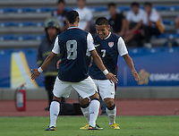 PUEBLA, Mexico - Feb. 26, 2013: The U.S. Under-20 Men's National Team in the 2013 CONCACAF U-20 Championship, defeating Canada 4-2 in the quarterfinals at Estadio Olímpico Universitario Lobos BUAP.