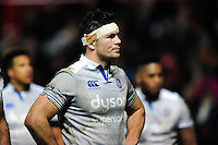 Francois Louw of Bath Rugby looks on. European Rugby Challenge Cup match, between Bristol Rugby and Bath Rugby on January 13, 2017 at Ashton Gate Stadium in Bristol, England. Photo by: Patrick Khachfe / Onside Images