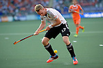 The Hague, Netherlands, June 06: Christopher Ruehr #17 of Germany tries to control the ball during the field hockey group match (Men - Group B) between Germany and The Netherlands on June 6, 2014 during the World Cup 2014 at Kyocera Stadium in The Hague, Netherlands. Final score 0-1 (0-1) (Photo by Dirk Markgraf / www.265-images.com) *** Local caption ***