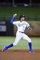 Peoria Javelinas shortstop Raul Mondesi (1) during an Arizona Fall League game against the Glendale Desert Dogs on October 14, 2014 at Surprise Stadium in Surprise, Arizona.  Glendale defeated Peoria 9-0.  (Mike Janes/Four Seam Images)