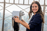 NEW YORK, NY - OCTOBER 04:  Super Model Emily Didonato attends the lighting of the Empire State Building In Honor of Answer The Call: The NY Police &amp; Fire Widows' &amp; Children's Benefit Fund at The Empire State Building on October 4, 2018 in New York City. <br /> CAP/MPI/RH<br /> &copy;RH/MPI/Capital Pictures